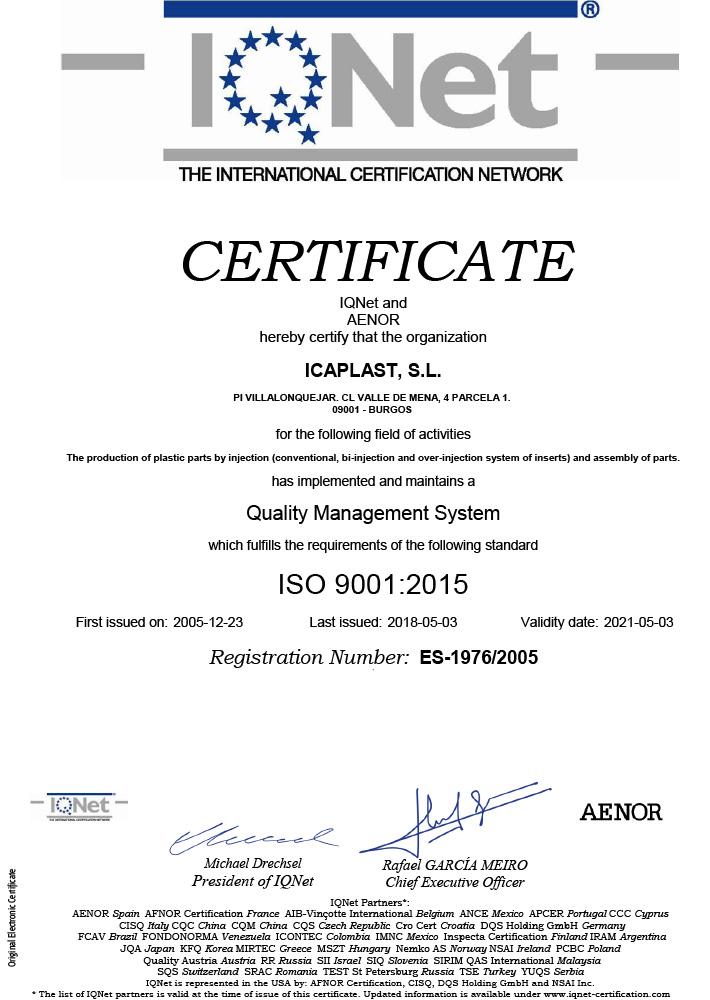 ICAPLAST-IQNet-ISO9001-en